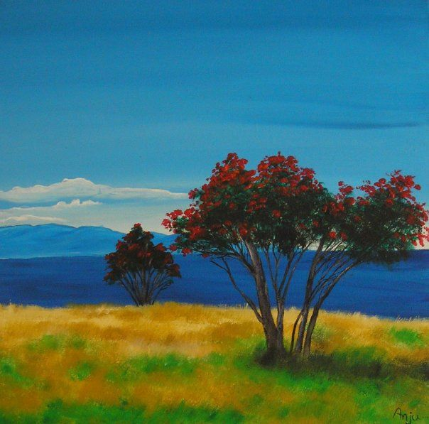 For painting class- sample landscape