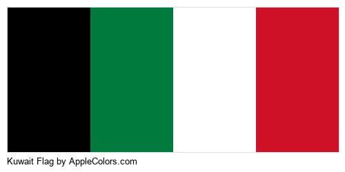 Kuwait Flag Country Country Flags #000000 #007a3d #ffffff #ce1126