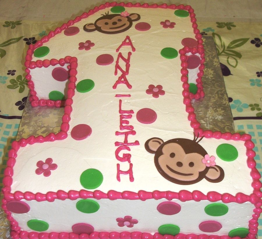 Cute Monkey Birthday sheet cakes half sheet cake carved to be a