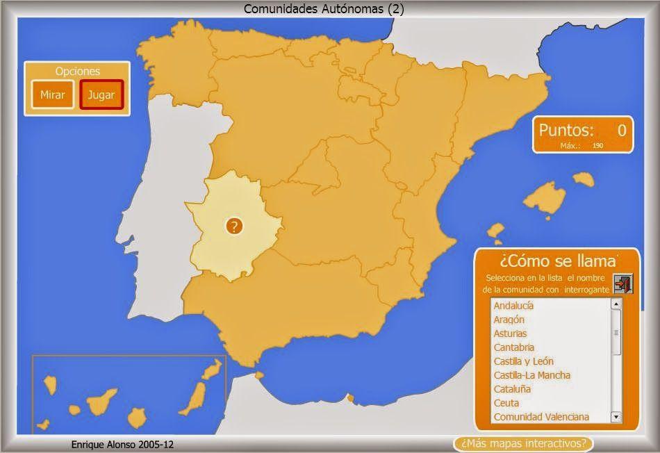 Recursos Primaria Mapas Interactivos De España Ccaa Y Provincias Mapa Interactivo Mapas Historias Para Niños