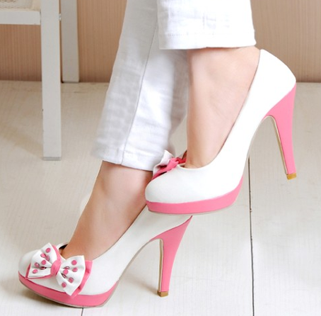 Pink And White Heels