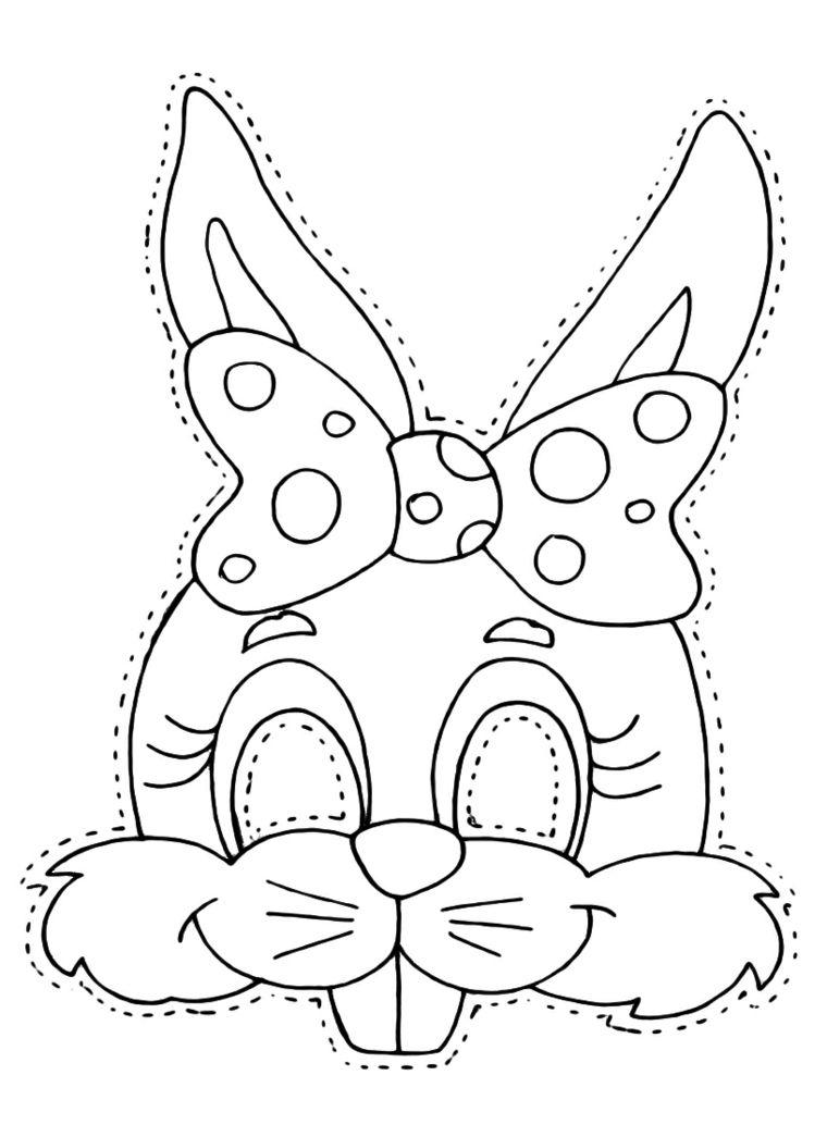 Disegno Da Ritagliare Schizzo Da Colorare Disegno Coniglietto
