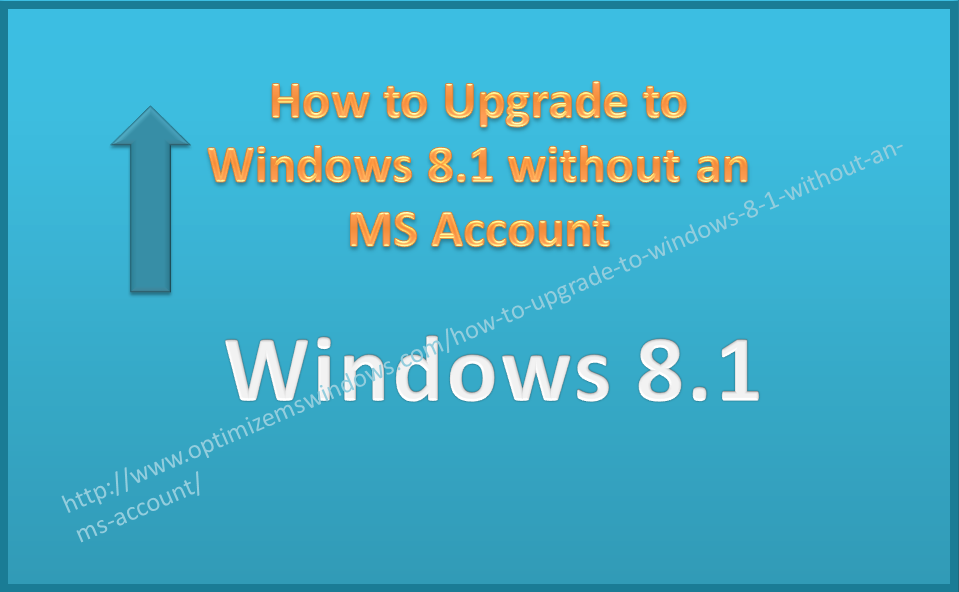 installing windows 8.1 without microsoft account