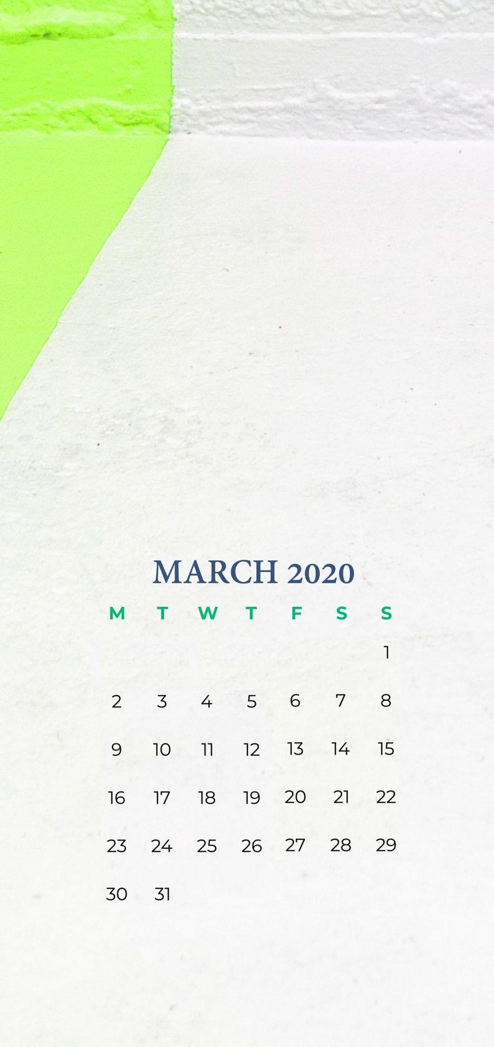 March 2020 Iphone Calendar Wallpaper In 2020 Calendar Wallpaper