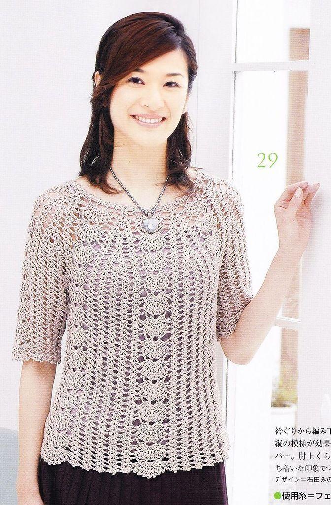 Crochetpedia: Long Sleeve Shirt | A TEJER | Pinterest | Camisas de ...