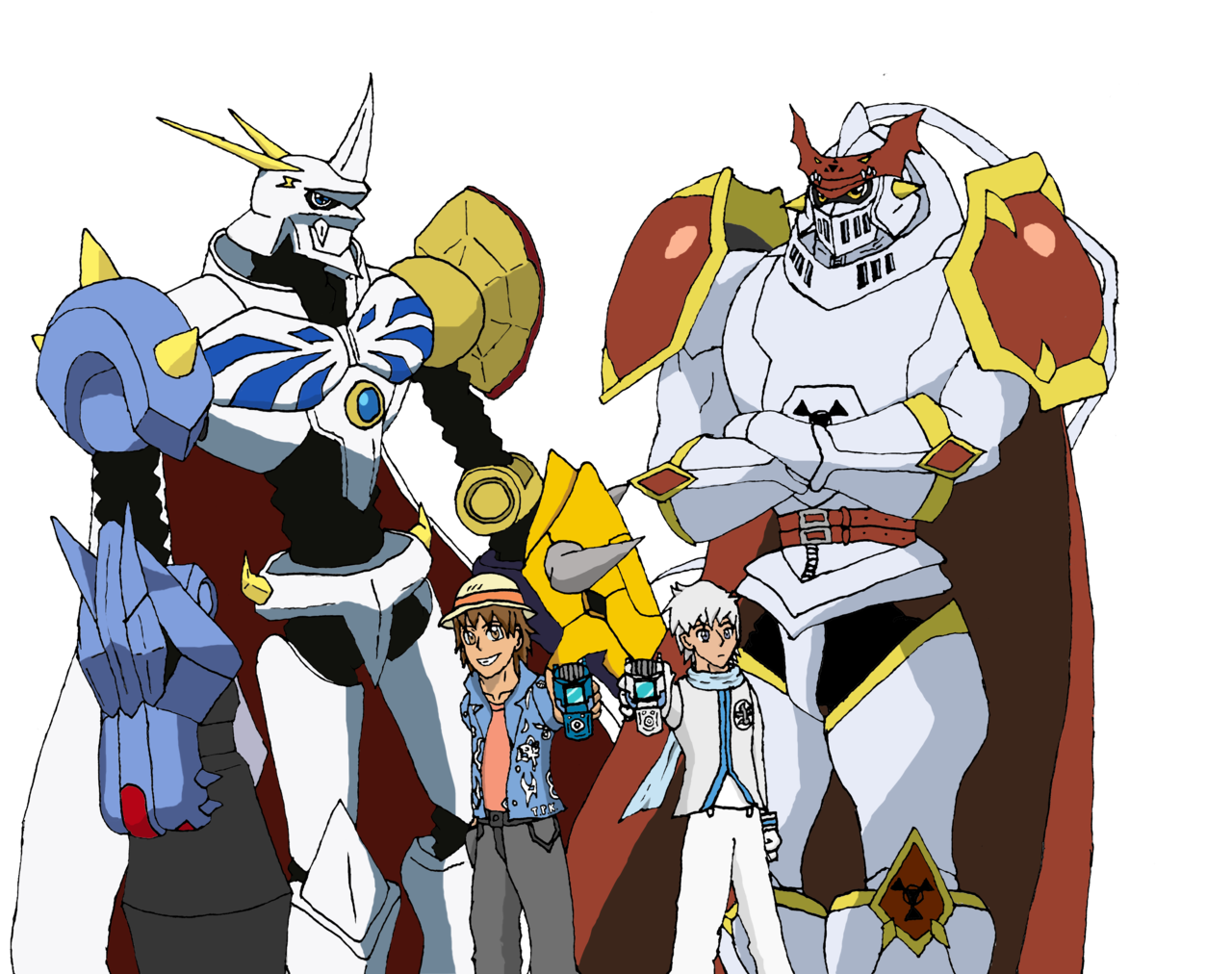 Digimon Omnimon Colouring Pages Digimon Digimon Adventure Tri Anime