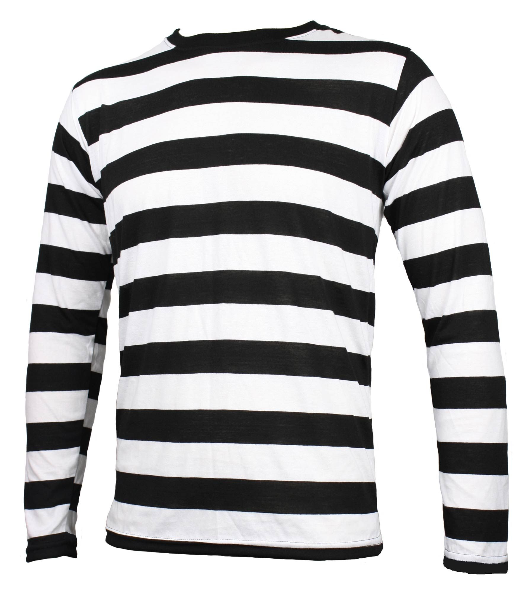 Black t shirt with white stripes - Details About Nyc Long Sleeve Punk Goth Emo Mime Stripe Striped Shirt Black White S M L Xl