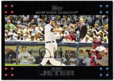 Derek Jeter 2007 Topps Mickey Mantle George Bush Variation Card 40 New York Yankees Sp Sase 40 By Mogans Derek Jeter Baseball Trading Cards New York Yankees