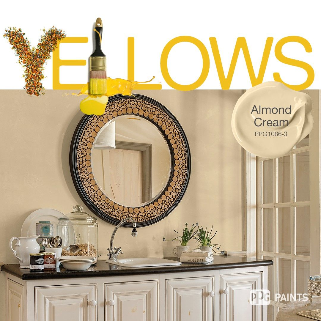 Por Yellow Paint Colors Warmer Ery Yellows Are Good For Transitional Es To Coordinate Rooms Try Trending Hue Almond Cream Refresh