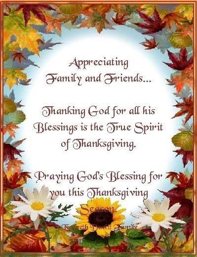 Thanksgiving Spirit | Thanksgiving blessings, Thanksgiving prayer,  Thanksgiving messages