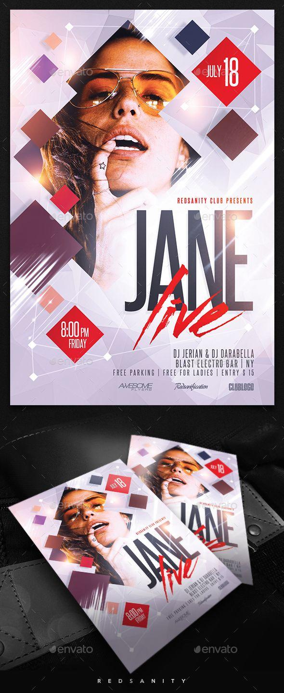 Guest DJ / Artist Flyer | Pinterest | Folletos, Diseño editorial y ...