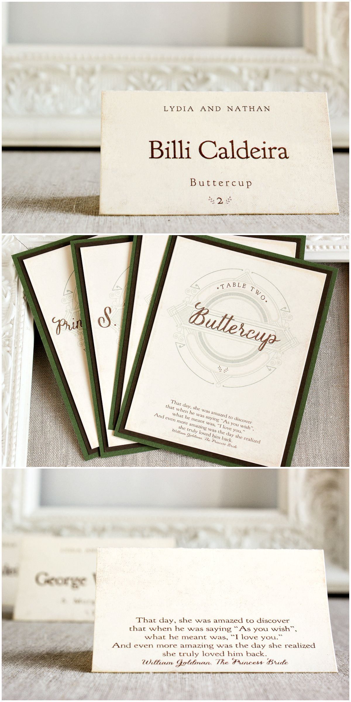 Literary Bookmark Place cards | Table numbers, Place cards and Reception