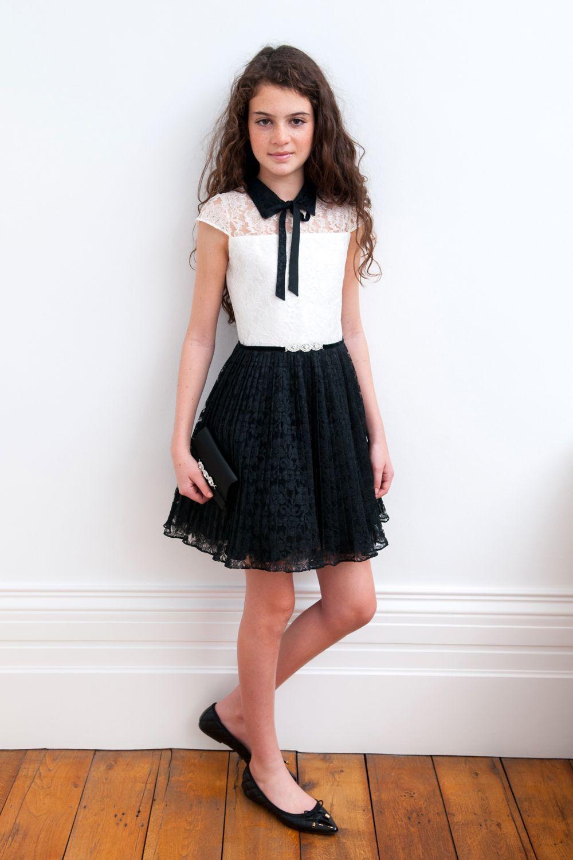 Monochrome Lace Formal Dress | tween fashion | Pinterest | Monochrome