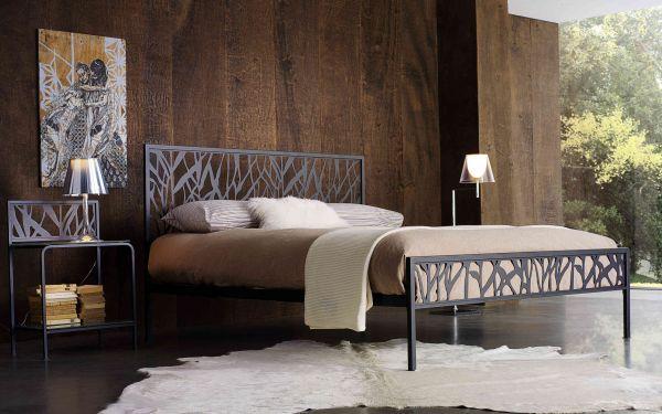 Letto in ferro battuto tazio cod cstaz marca tazio letto in ferro battuto completo di - Letto completo di rete e materasso ...