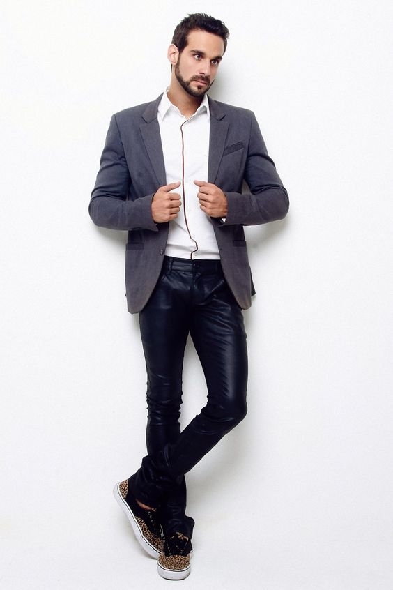 Pantalon Cuir, Mode Masculine, Mode Homme, Pantalons En Cuir Noir, Le Cuir 3fcd7fe9bd7e