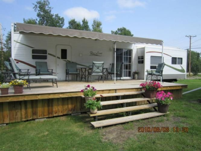 Deck Next To Camper A Glamping We Will Go Pinterest