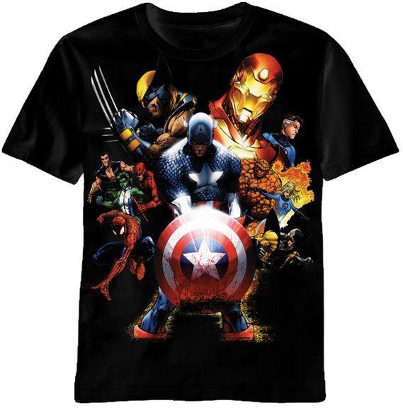 Marvel Team-Ups Men's Team Ups Soldiers Revenge T-Shirt, Black, X-Large.  Release date: Manufacturer minimun age: 1 months.