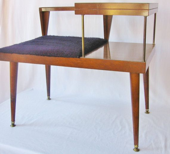 Foyer Bench Modern : Mid century modern table telephone bench danish