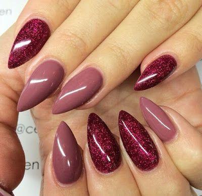 Uñas Color Vino 2017 Los Mas Lindos Diseños Uñas Uñas