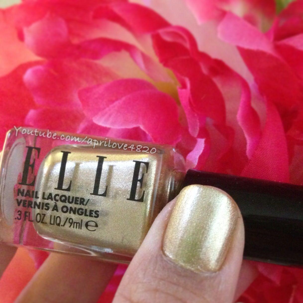 Elle nail polish swatch #nails #nail polish swatch #nail polish swatches #nail art #gold polish #gold nails #nail polish #gold nail polish