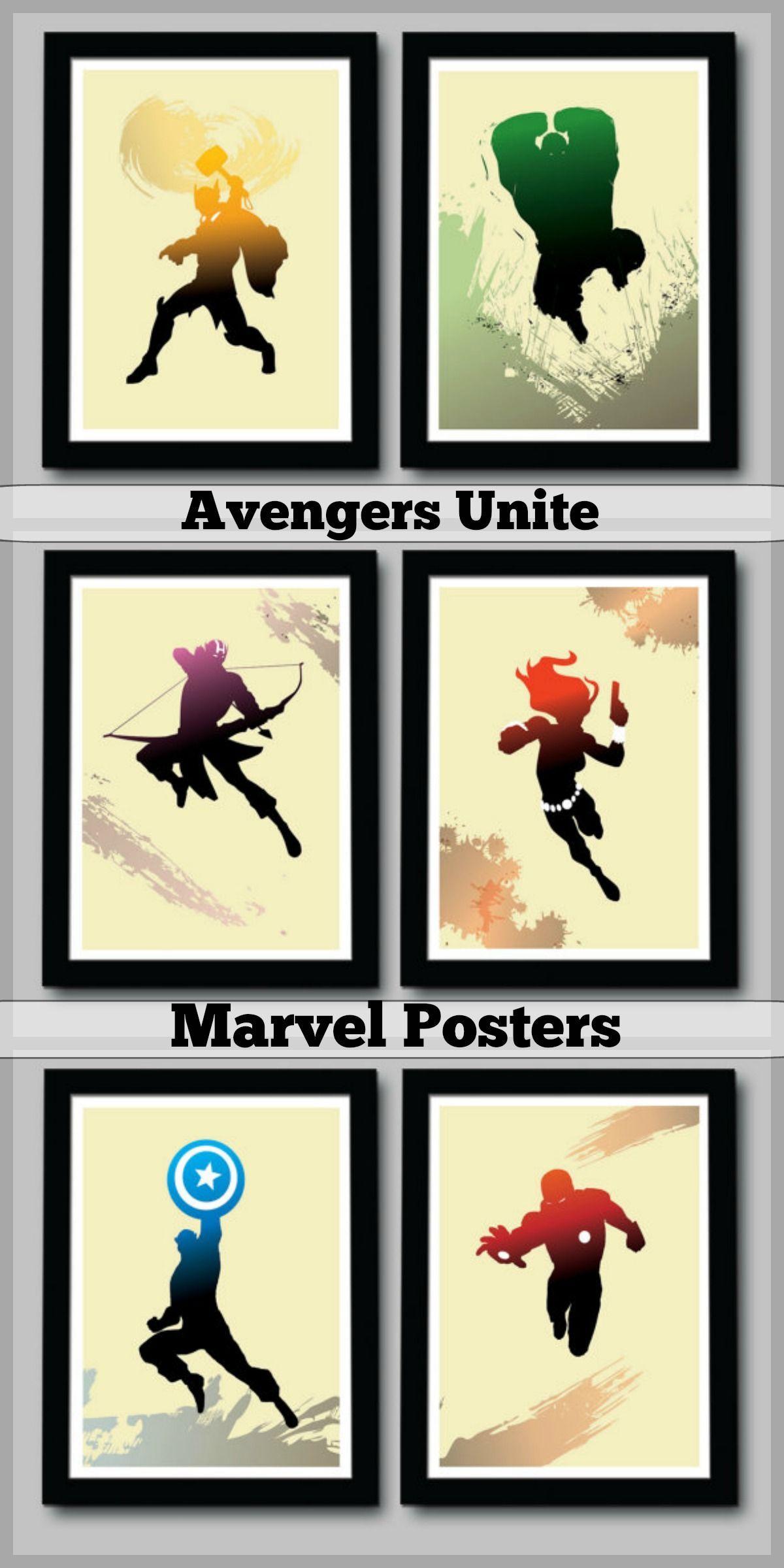 Marvel inspired posters -- Avengers Unite! Thor poster, Hulk poster ...