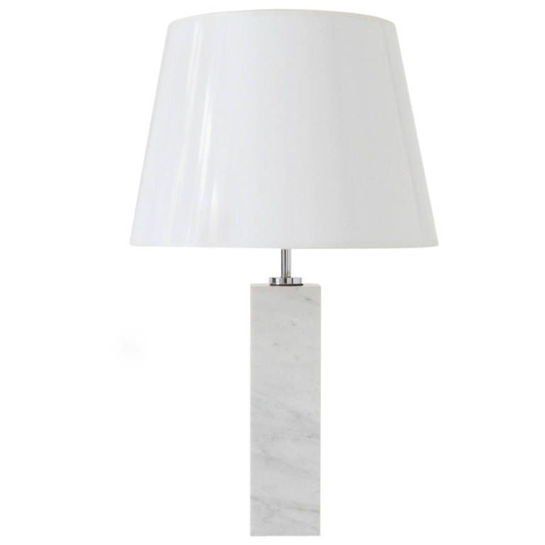 Florence Knoll White Marble Table Lamp From A Unique Collection