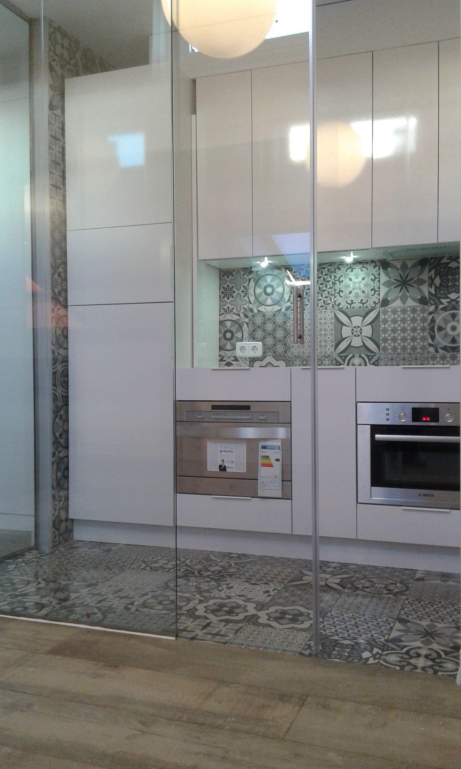 Cocina Ii Doca Pinterest Vidrio Templado Puertas Correderas  ~ Puerta Corredera Cristal Cocina
