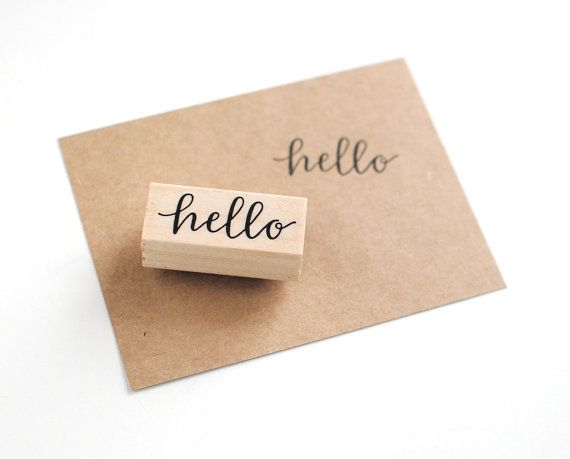 Hello from the other side hand lettering greeting card a