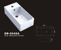 Rectangle Vessel Sink Small Bathroom Basin Rectangular Washbasin