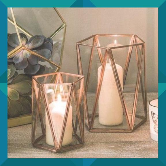 Copper Triangular Tea Light Holder View All Home Decoration Home Decoration Home Accessories 119 Geometric Candle Holder Geometric Candles Copper Decor