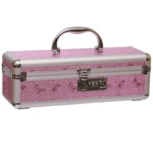 "Pink Butterfly Toy Box  This pretty pink toy box can be used not only for your toys, but also for any precious items. Combination lock for security and privacy. 11 3/4"" wide, 3 7/8"" deep, 3 3/4"" high."
