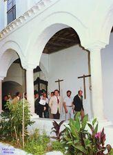 Visita del presidente Diego Romero Marín, al Asilo de Jesús en Montoro, necesitado de reforma y ampliación, 1982