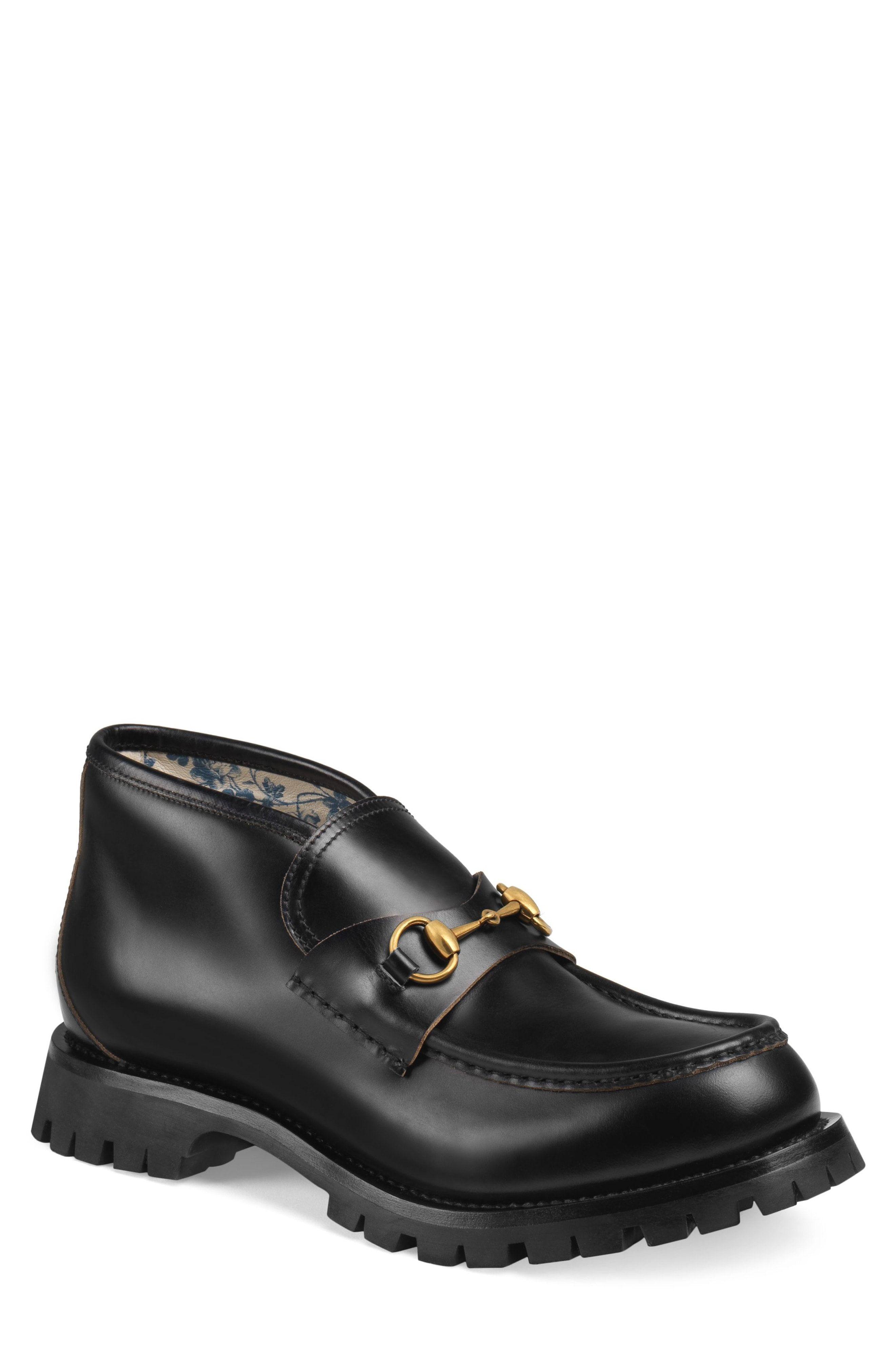 c2606d1d6 GUCCI GUICCI DJANGO HORSEBIT CHUKKA SLIP-ON. #gucci #shoes Mens Leather  Ankle