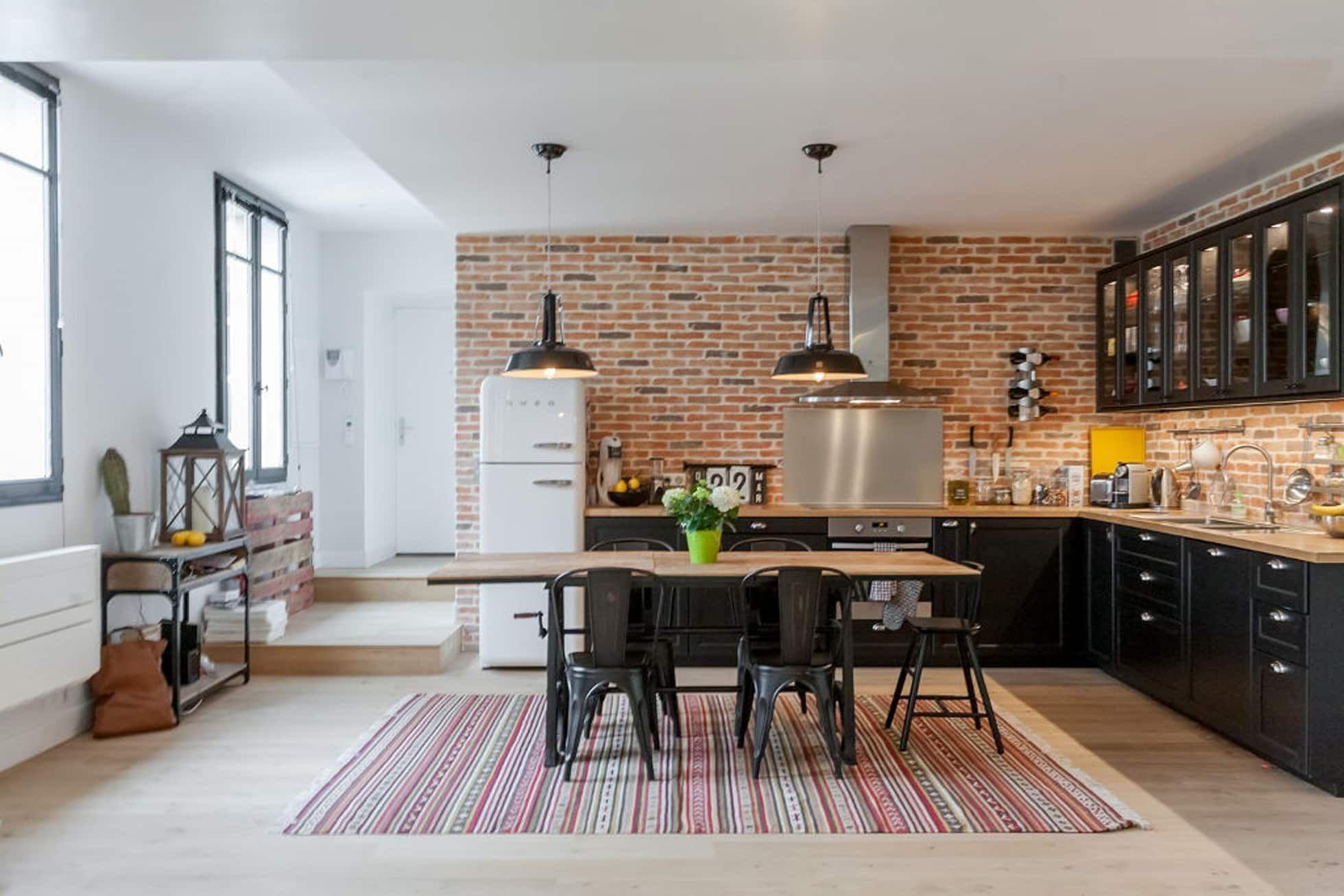 Appartement 18 cuisine moderne par fort et salière moderne