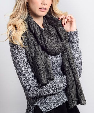 Loving this Gray Open-Knit Scarf on #zulily! #zulilyfinds
