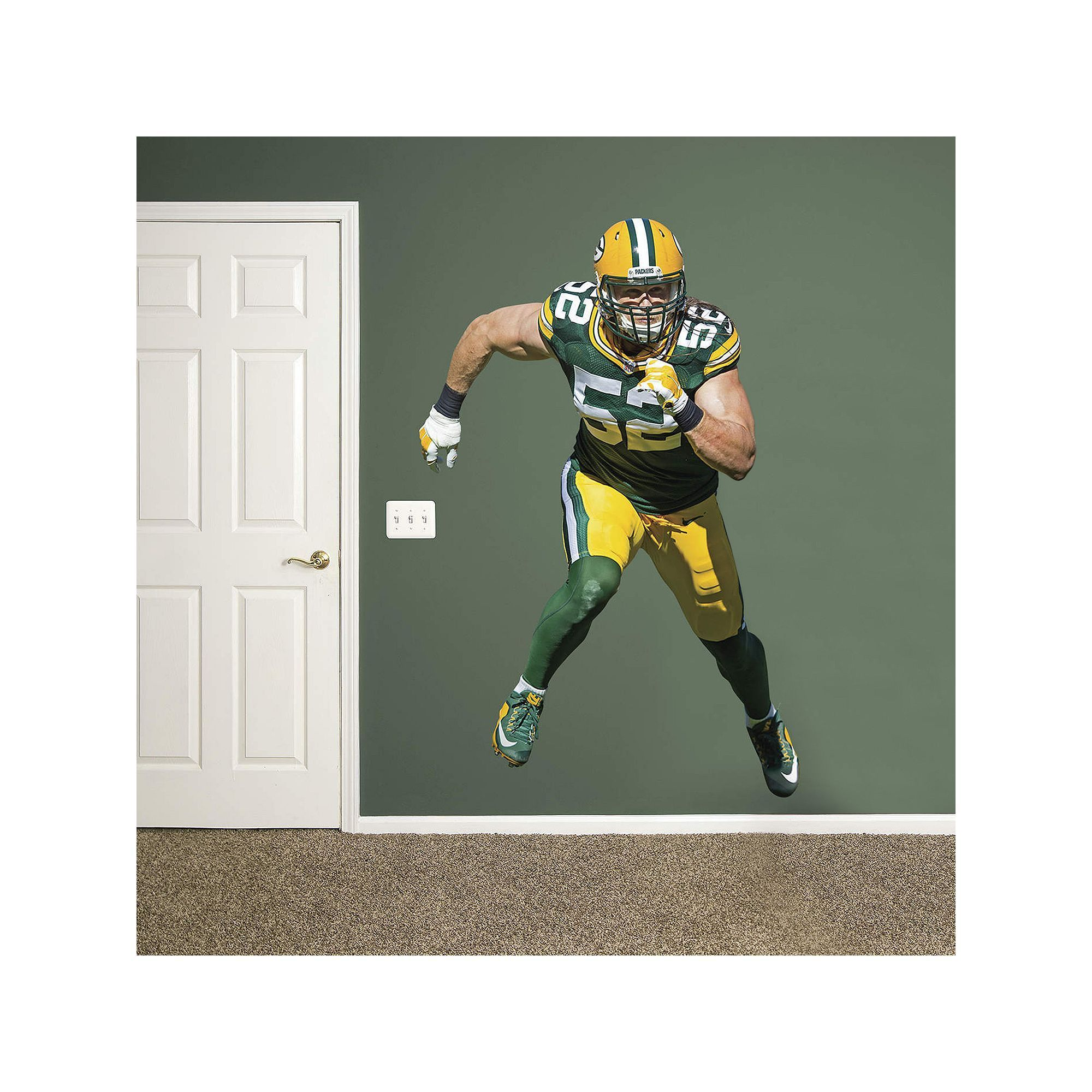Fathead Green Bay Packers Clay Matthews Wall Decal By Part 63