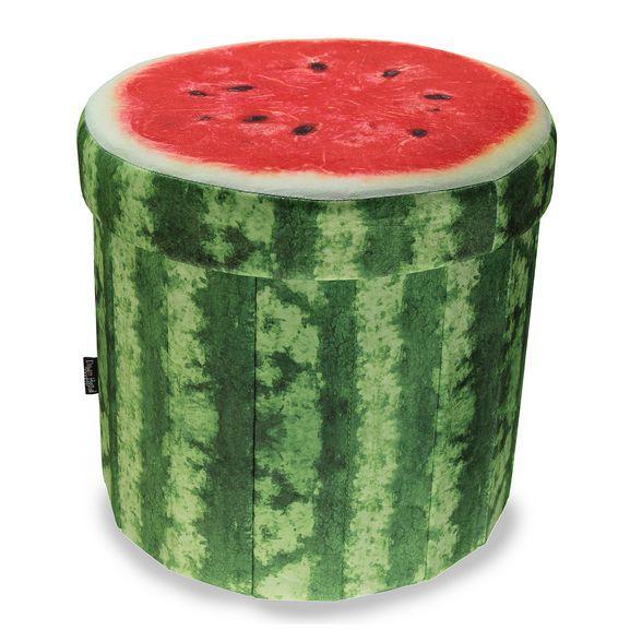 Sitzhocker Mit Stauraum früchte sitzhocker wassermelone mit stauraum größe 43x43x40cm 29