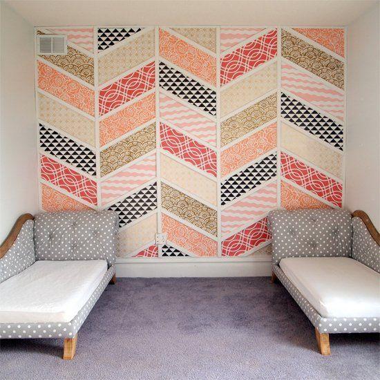 Cmo decorar paredes con telas Tela De las casas y Probar