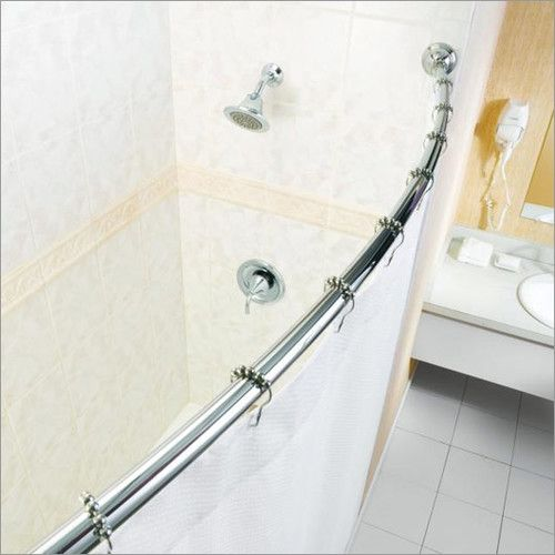 72 Adjustable Curved Fixed Shower Curtain Rod With Images