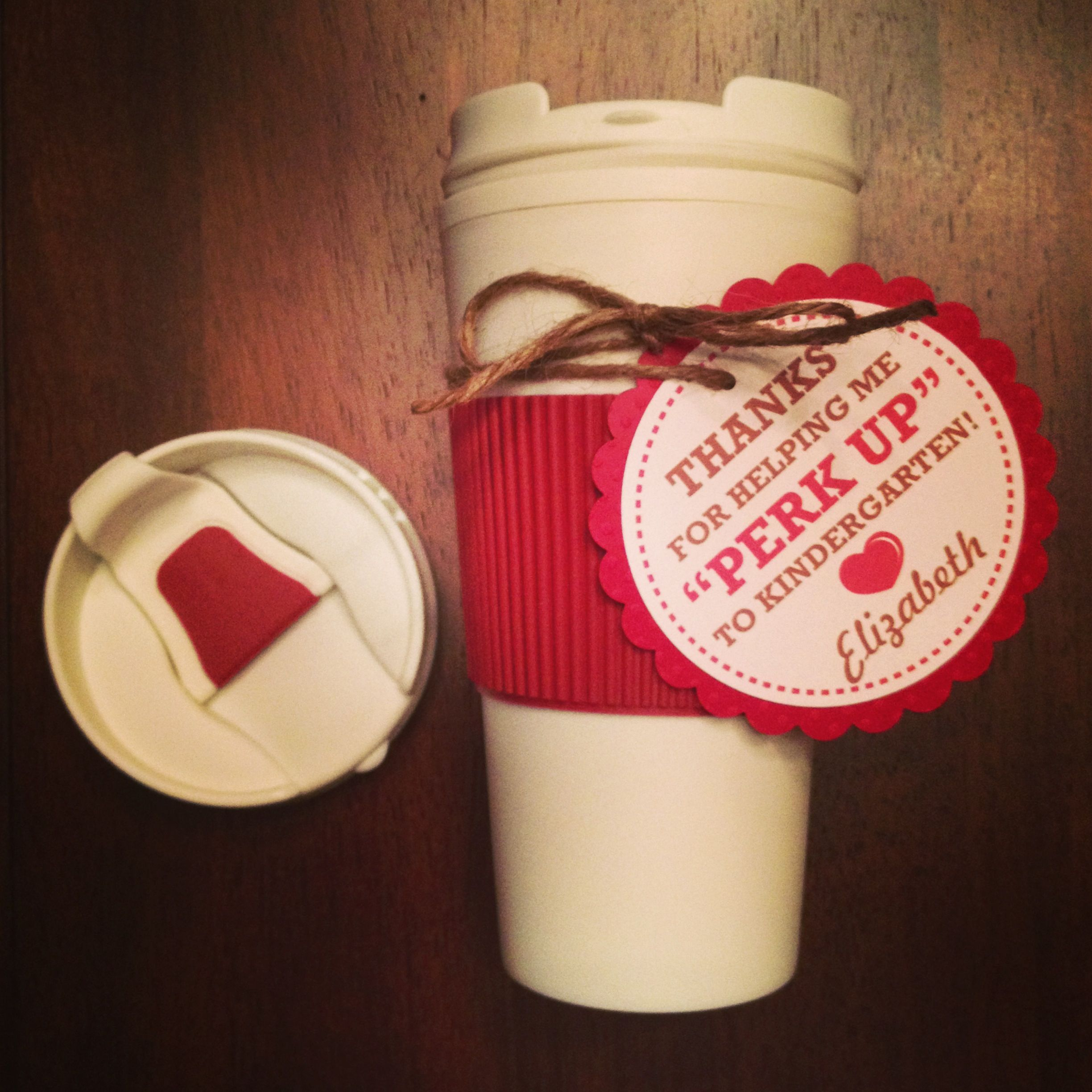 Coffee tumbler from the dollar tree add a note and a 5