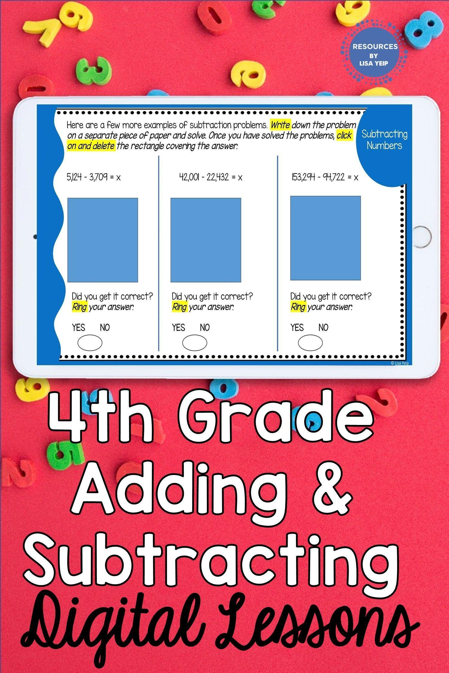 4th Grade Addition Amp Subtraction Digital Math Bundle 4 Nbt