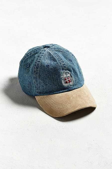 08761f8b6c4 Stussy Denim Suede Crest Hat