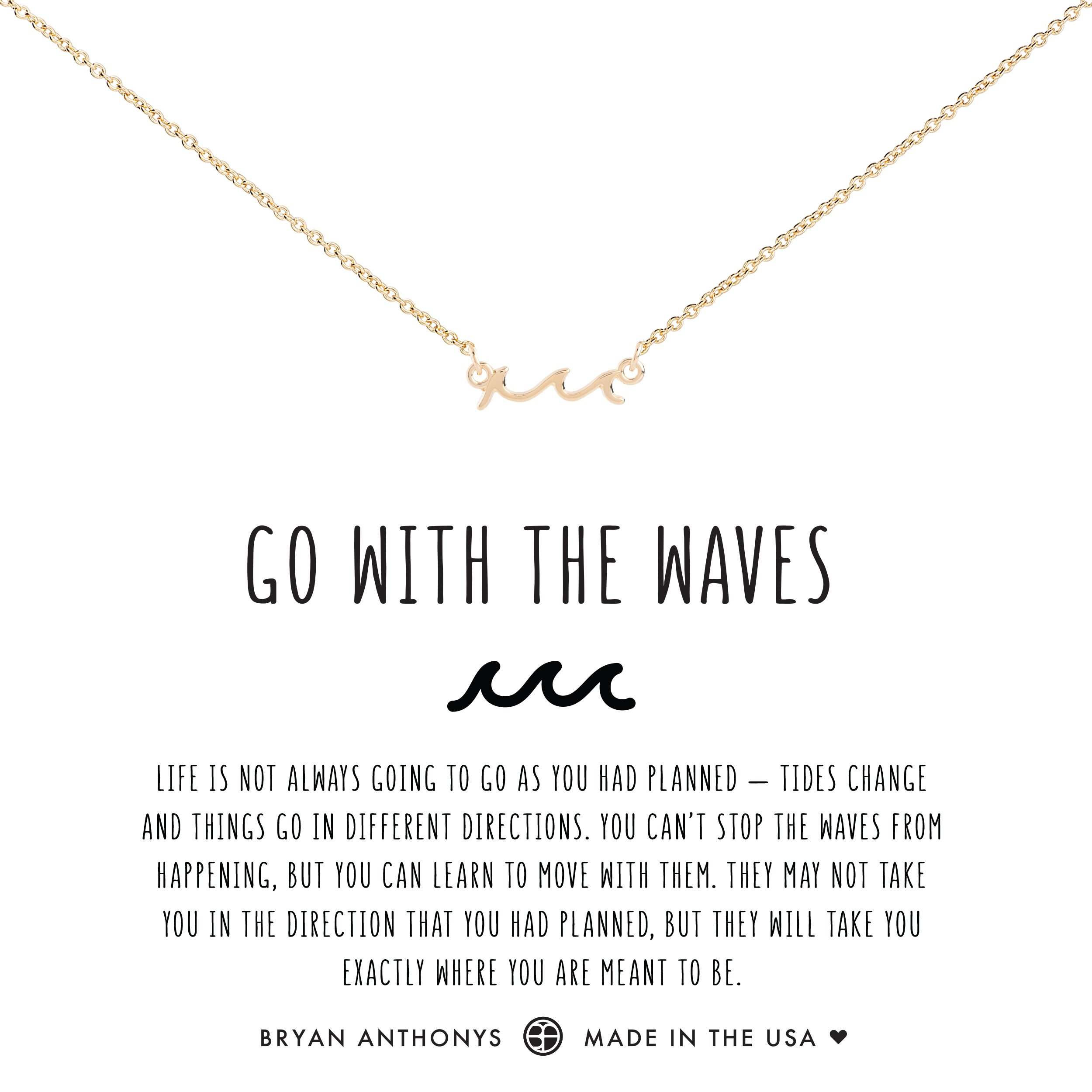 Go With The Waves Anklet Wave necklace, Gold diamond