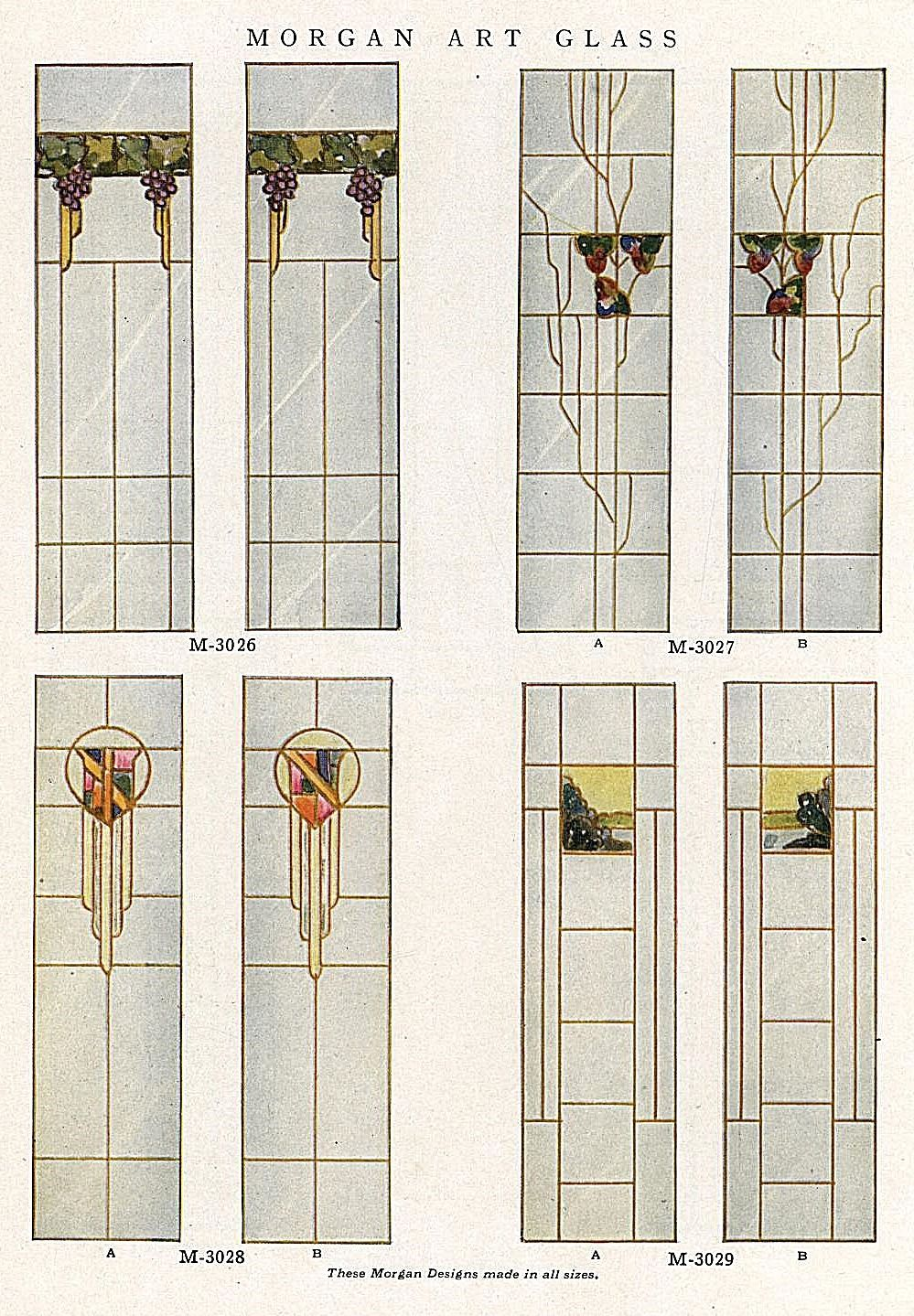 Stained Glass window designs, 1921