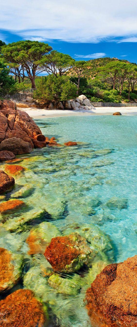Palombaggia Beach In Porto Vo Corsica France
