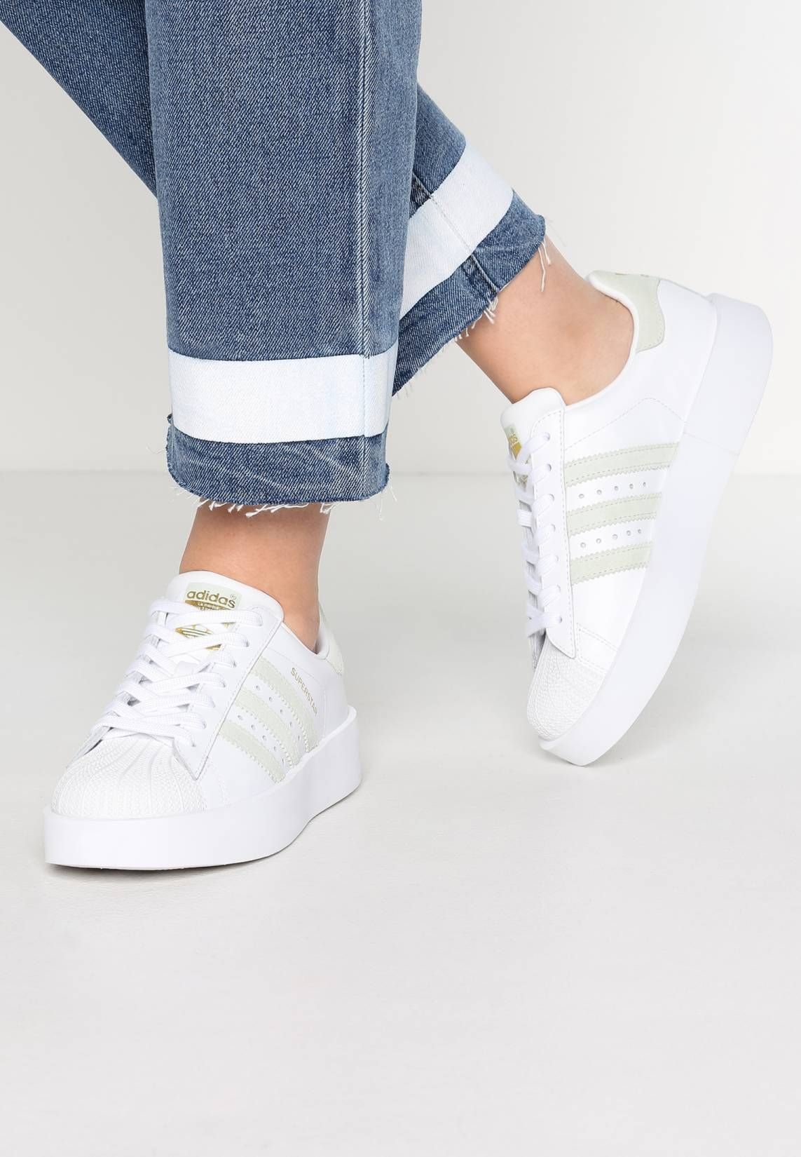 adidas SUPERSTAR BOLD Basket low Blanc linen Vert
