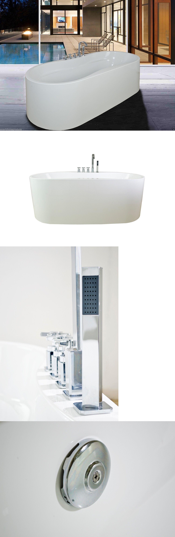 Bathtubs 42025: Gtc Bathroom 66.9 Spa White Color Free Standing ...