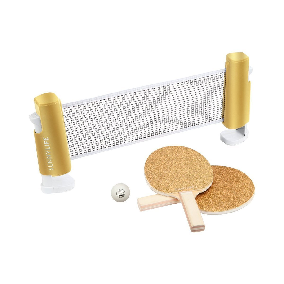 Sunnylife Table Top Tennis Game Ping Pong Set For Kids And Adults Gold Glitter Ping Pong Sunnylife Pong