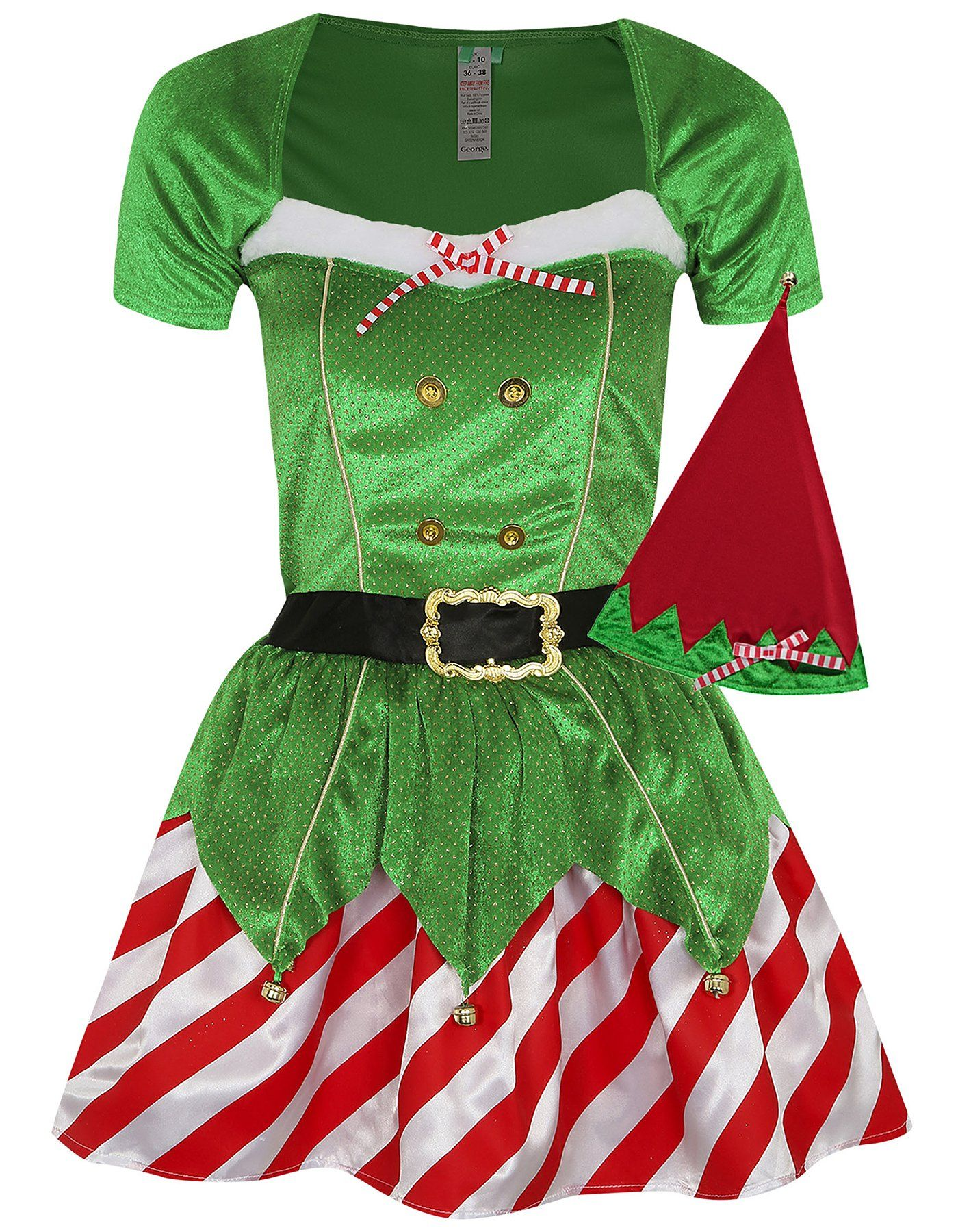 Christmas fancy dress ideas diy - Christmas Mrs Elf Fancy Dress Costume Read Reviews And Buy Online At George Shop