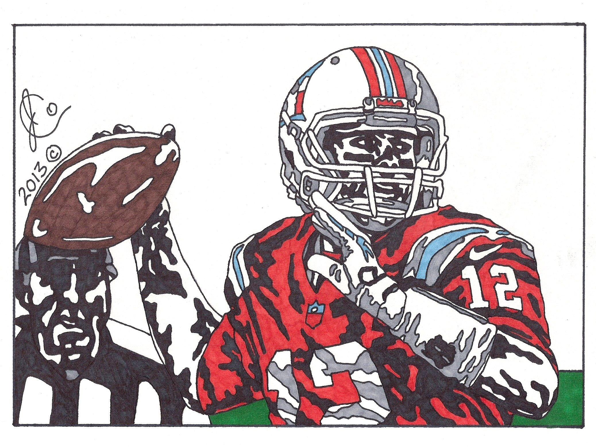 Tom Brady Ink Illustration 2 Throwback Edition By Jcolley79 Deviantart Com On Deviantart Ink Illustrations Throwback Illustration